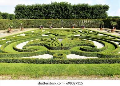 An image of a Baroque garden - Castle Herrenhausen - Hannover/Germany - 08/16/2017