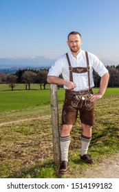 An image of a bavarian traditional man outdoors