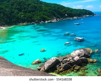 The image of the bay of Similan Islands.