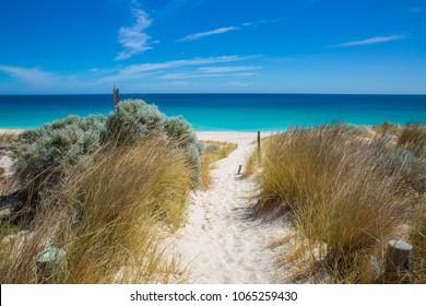 Image of beach path in City beach, Perth, Western Australia.