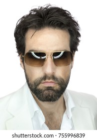 An image of a bearded man with sunglasses