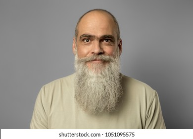 An image of a bearded mature male portrait