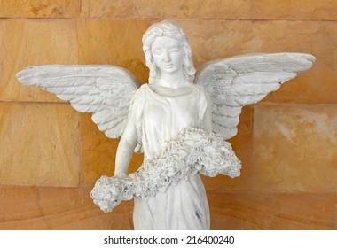 image of a beautiful angel's statue