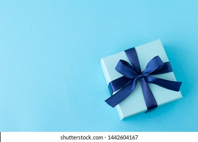 Image of a beautiful blue present