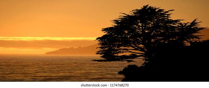 Image of the Beautiful California coast at Pismo Beach, california