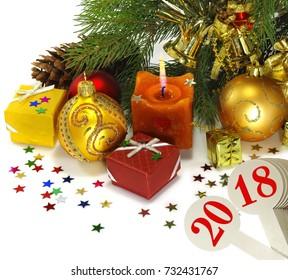 image of beautiful Christmas card closeup