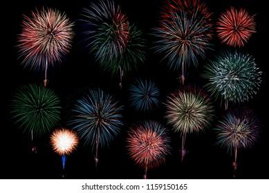 An image of beautiful fireworks celebration