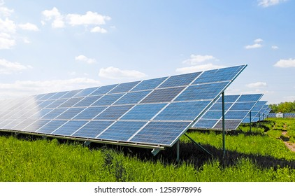 image of a big solar plant