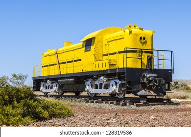 An image of a big yellow train