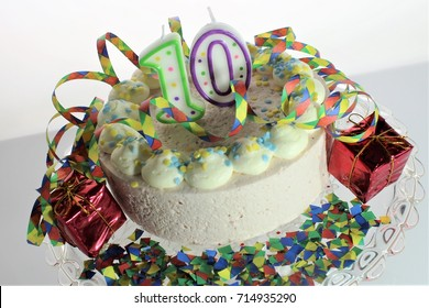 An image of a birthday cake - 10th birthday
