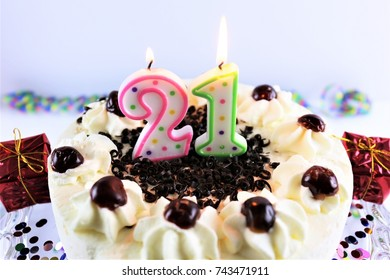 Superb 21St Birthday Cake Images Stock Photos Vectors Shutterstock Personalised Birthday Cards Arneslily Jamesorg