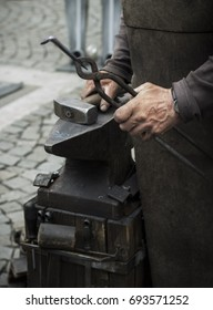 Image of a blacksmith during work