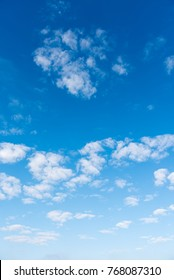 image of blue sky and white cloud on day time for background usage.(vertical).