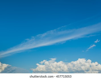 image of blue sky and white clouds on day time for background usage .