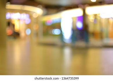 image blur interior business shopping mall