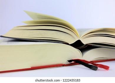 An Image of a book, libray