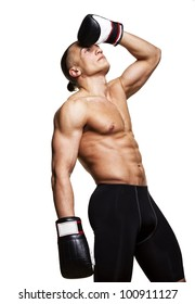 Image of boxer in studio