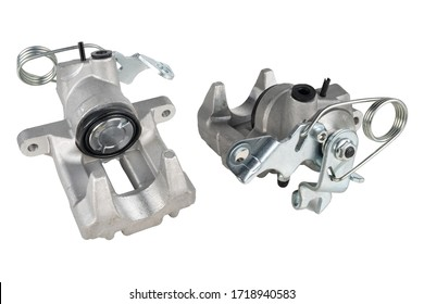 Image of brake caliper car part isolated on white background