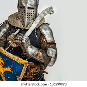 Image of brave armored knight
