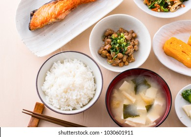 Image of breakfast in Japan
