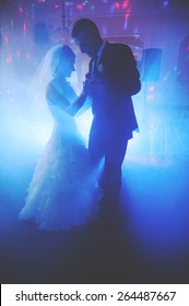an image of bride and groom dancing the first dance at their wedding day