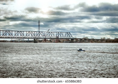 the image bridge over river in overcast weather