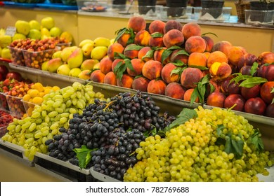 Image of bright colorful autumn fruits and vegetables