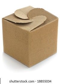 image of brown cardboard box over a white background