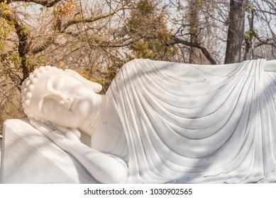 Image of Buddha in his Parinirvana or Parinibbana (nirvana after death)