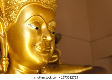The image of the Buddha's face in the church that is respected by Buddhists around the world.