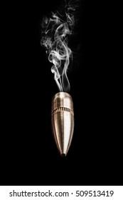 Image of a bullet isolated on black background