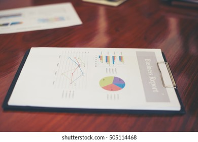 Image of business documents on workplace.