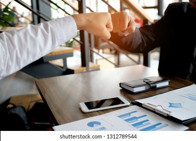 Image business mans handshake. Business partnership meeting successful concept