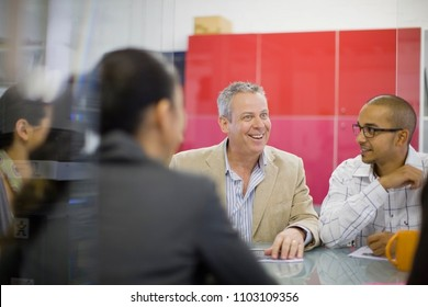 Image of Business people talking in conference