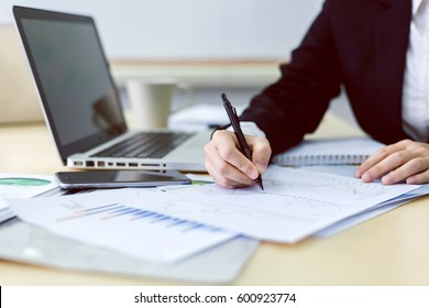 Image of business person working at desk