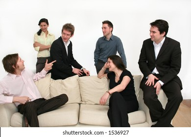 image of a business team having a discussion