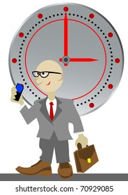 image businessman against clock