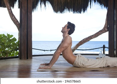 the image of businessman doing Yoga in Boracay Philippine