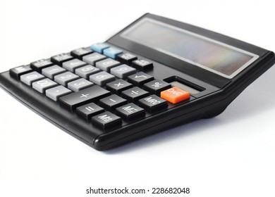 Image of a calculator on white background