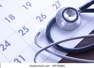 An Image of Calendar And Stethoscope