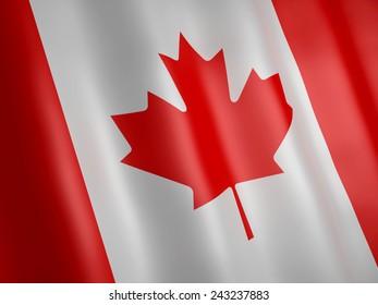 image of Canada flag. 3d renderer illustration.
