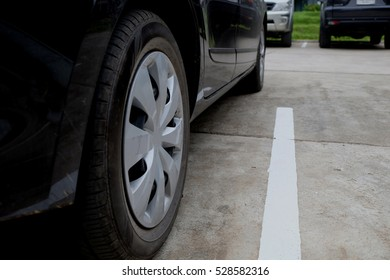 The image of Car parking in car park on daytime