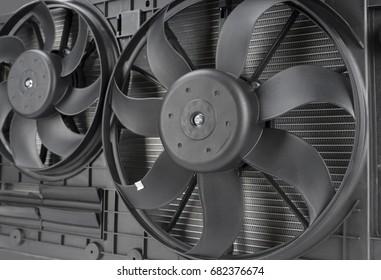 Image of car radiator fan closeup