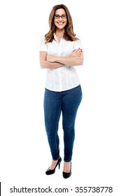 Image of a Casual woman posing with crossed arms