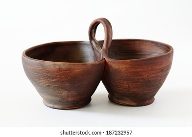 Image of ceramic bowl on a white background