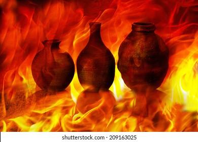 Image Of Ceramic In Fire