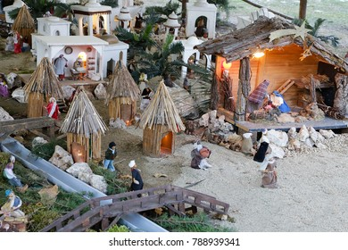 image of a characteristic crib during the Christmas holidays