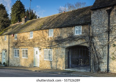 An image of a charming cottage in the village of Duddington, Northamptonshire, England, UK