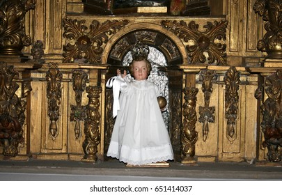 Image of the Child Jesus in Covaleda Church, Soria, Spain,