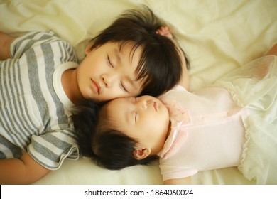 Image of children taking a nap
